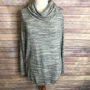 Lou & Grey light grey speckled pullover sweater